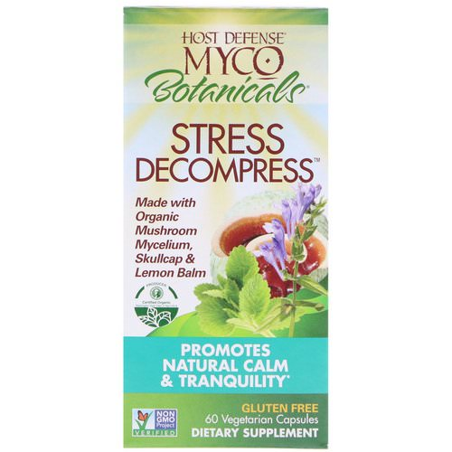 Fungi Perfecti, MycoBotanicals, Stress Decompress, 60 Vegetarian Capsules Review