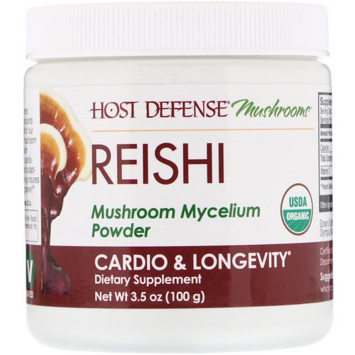 Fungi Perfecti, Reishi, Mushroom Mycelium Powder, Cardio & Longevity, 3.5 oz (100 g) Review