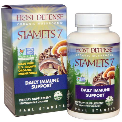 Fungi Perfecti, Stamets 7, Daily Immune Support, 120 Veggie Caps Review