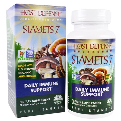 Fungi Perfecti, Stamets 7, Daily Immune Support, 60 Veggie Caps Review