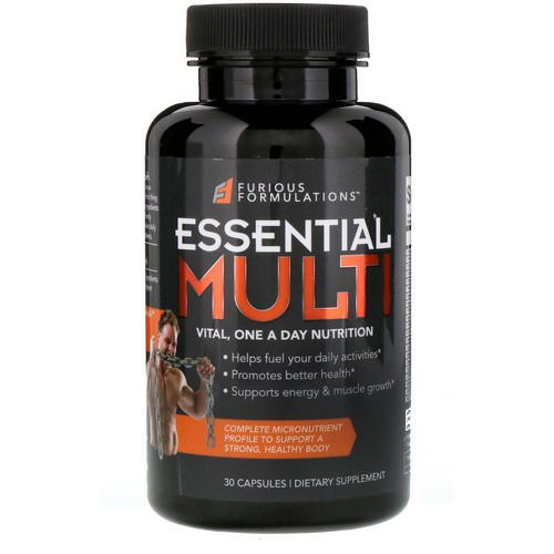 FURIOUS FORMULATIONS, Essential Multi Vital, One A Day Nutrition, 30 Capsules Review
