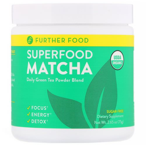 Further Food, Superfood Matcha, 2.65 oz (75 g) Review