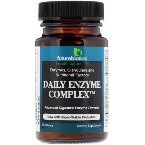 FutureBiotics, Daily Enzyme Complex, 75 Tablets Review