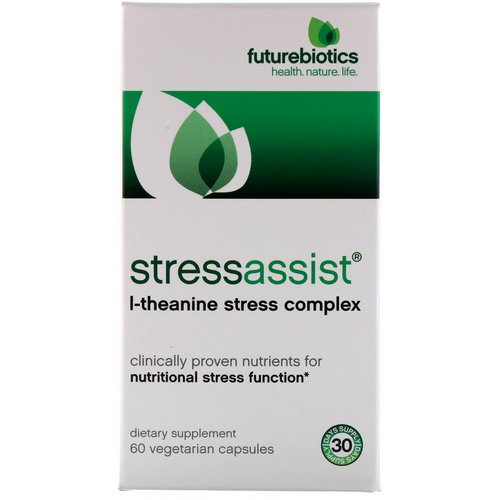 FutureBiotics, Stressassist, L-Theanine Stress Complex, 60 Veggie Caps Review
