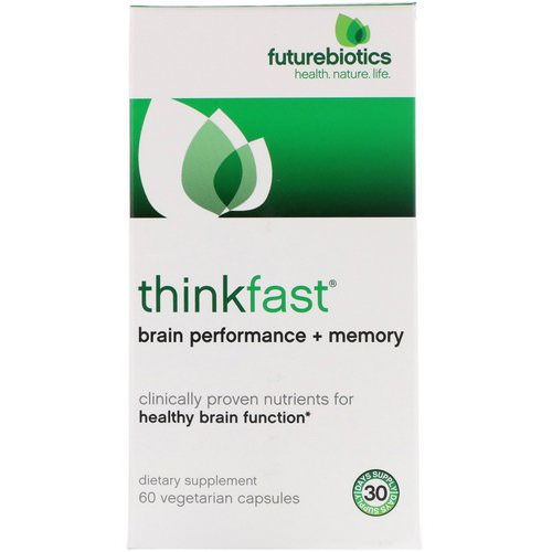 FutureBiotics, ThinkFast, Brain Performance + Memory, 60 Vegetarian Capsules Review