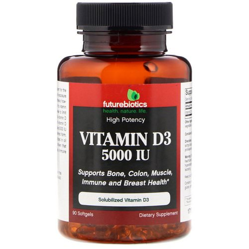 FutureBiotics, Vitamin D3, 5000 IU, 90 Softgels Review
