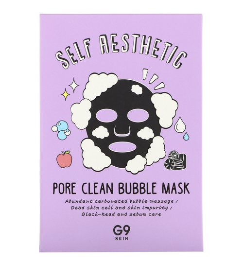 G9skin, Self Aesthetic, Pore Clean Bubble Mask, 5 Masks, 0.78 fl oz (23 ml) Each Review