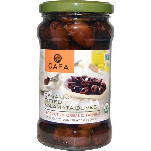 Gaea, Organic Pitted Kalamata Olives, 10.2 oz (290 g) Review