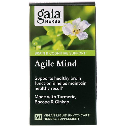 Gaia Herbs, Agile Mind, 60 Vegan Liquid Phyto-Caps Review