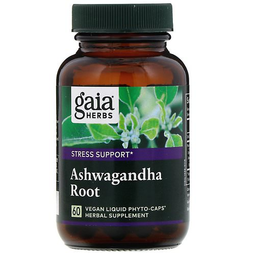 Gaia Herbs, Ashwagandha Root, 60 Vegan Liquid Phyto-Caps Review