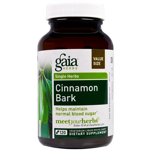 Gaia Herbs, Cinnamon Bark, 120 Vegetarian Liquid Phyto-Caps Review