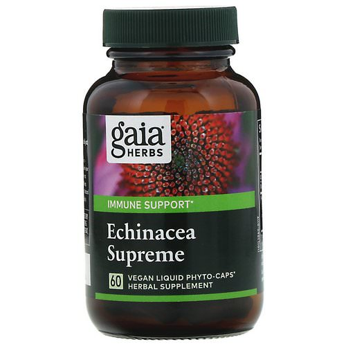 Gaia Herbs, Echinacea Supreme, 60 Vegan Liquid Phyto-Caps Review