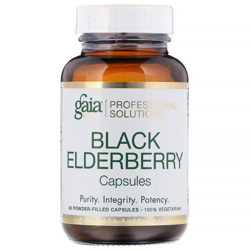 Gaia Herbs Professional Solutions, Black Elderberry, 60 Powder-Filled Capsules Review