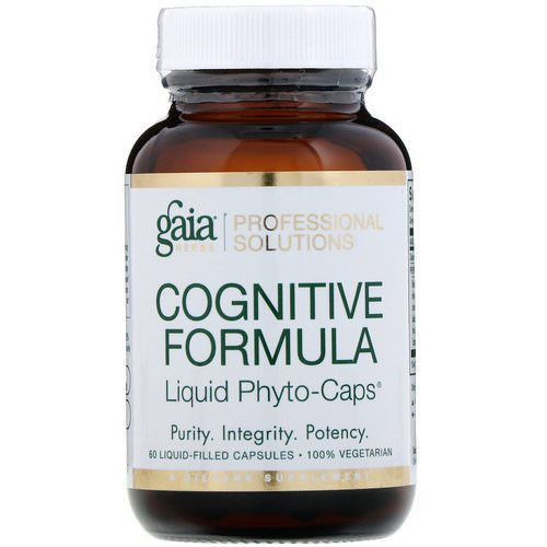Gaia Herbs Professional Solutions, Cognitive Formula, 60 Liquid-Filled Capsules Review