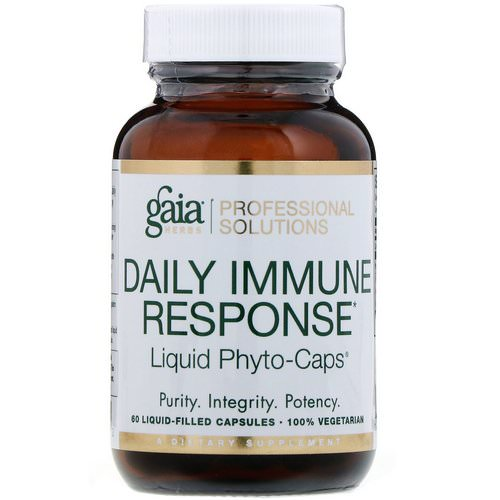 Gaia Herbs Professional Solutions, Daily Immune Response, 60 Liquid-Filled Capsules Review