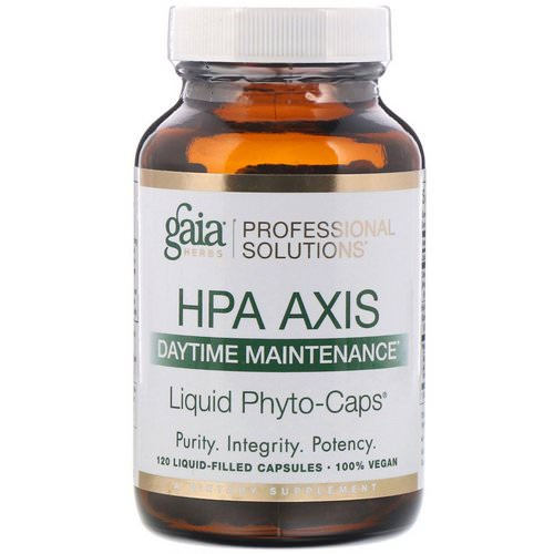 Gaia Herbs Professional Solutions, HPA Axis, Daytime Maintenance, 120 Liquid-Filled Capsules Review