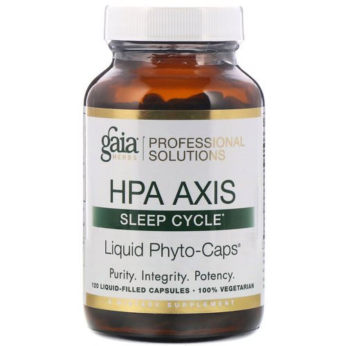 Gaia Herbs Professional Solutions, HPA Axis, Sleep Cycle, 120 Liquid-Filled Capsules Review