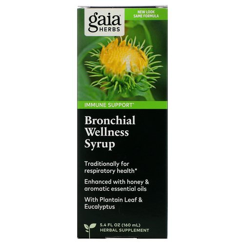 Gaia Herbs, Bronchial Wellness Syrup, 5.4 fl oz (160 ml) Review