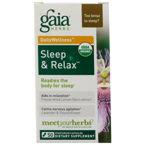 Gaia Herbs, RapidRelief, Sleep & Relax, 50 Capsules Review