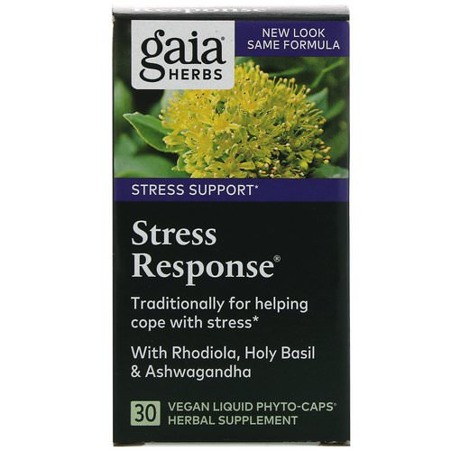 Gaia Herbs, Stress Response, 30 Vegan Liquid Phyto-Caps Review