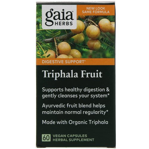 Gaia Herbs, Triphala Fruit, 60 Vegan Capsules Review
