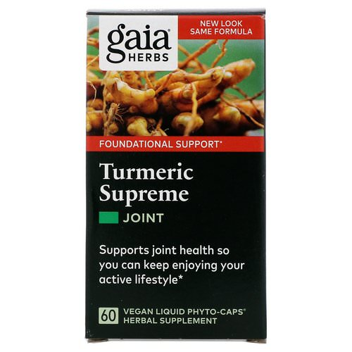 Gaia Herbs, Turmeric Supreme, Joint, 60 Vegan Liqiud Phyto-Caps Review