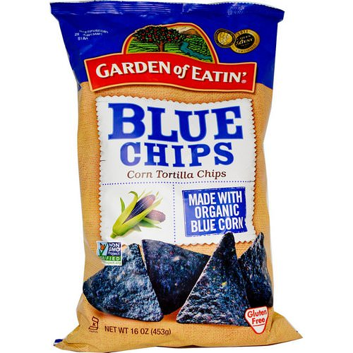 Garden of Eatin', Corn Tortilla Chips, Blue Chips, 16 oz (453 g) Review
