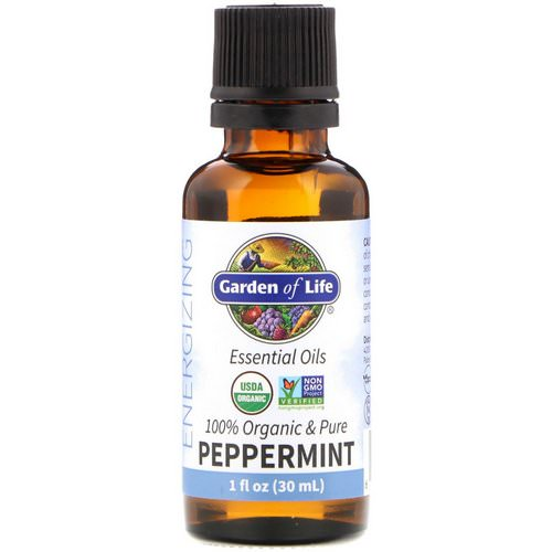 Garden of Life, 100% Organic & Pure, Essential Oils, Energizing, Peppermint, 1 fl oz (30 ml) Review