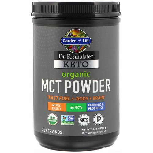 Garden of Life, Dr. Formulated Keto Organic MCT Powder, 10.58 oz (300 g) Review
