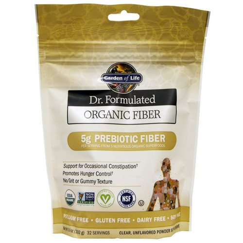 Garden of Life, Dr. Formulated, Organic Fiber, Unflavored, Powder Supplement, 6.8 oz (192 g) Review