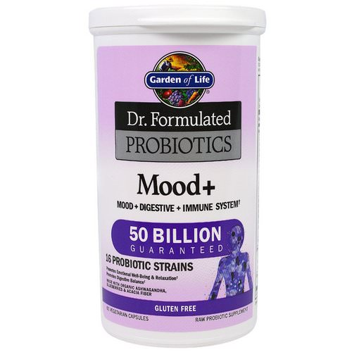 Garden of Life, Dr. Formulated Probiotics, Mood+, 60 Veggie Caps Review