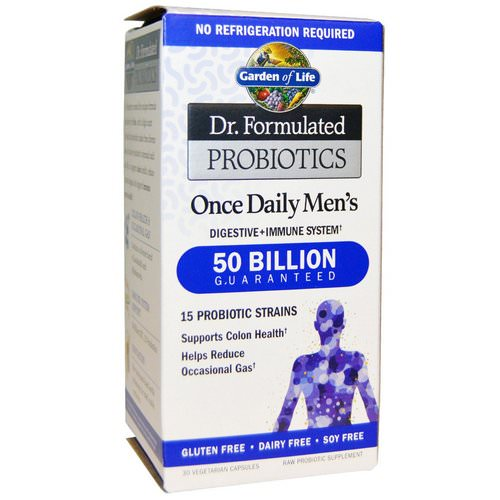 Garden of Life, Dr. Formulated Probiotics, Once Daily's Men's, 30 Veggie Caps Review
