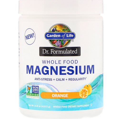 Garden of Life, Dr. Formulated, Whole Food Magnesium Powder, Orange, 14.8 oz (419.5 g) Review