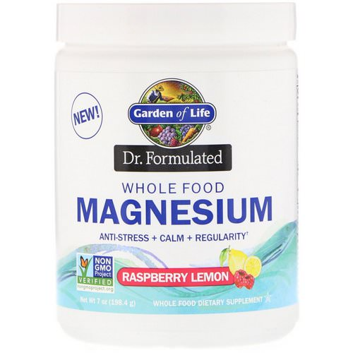 Garden of Life, Dr. Formulated, Whole Food Magnesium Powder, Raspberry Lemon, 7 oz (198.4 g) Review