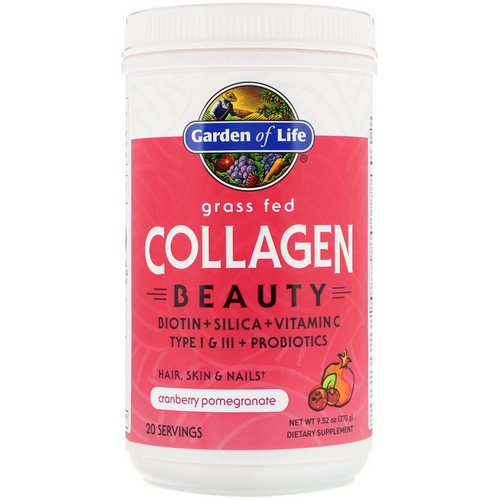Garden of Life, Grass Fed Collagen Beauty, Cranberry Pomegranate, 9.52 oz (270 g) Review