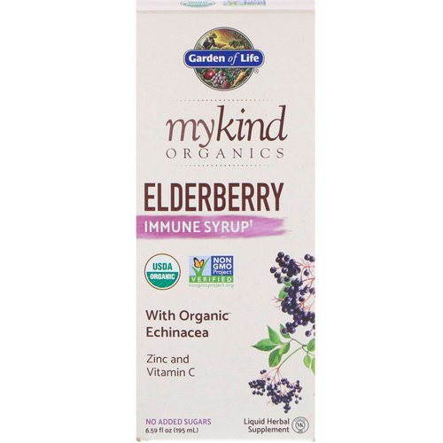 Garden of Life, MyKind Organics, Elderberry Immune Syrup, 6.59 fl oz (195 ml) Review