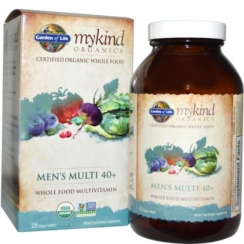 Garden of Life, MyKind Organics, Men's Multi 40+, 120 Vegan Tablets Review