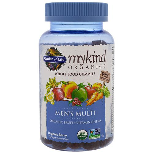 Garden of Life, MyKind Organics, Men's Multi, Organic Berry, 120 Gummy Drops Review