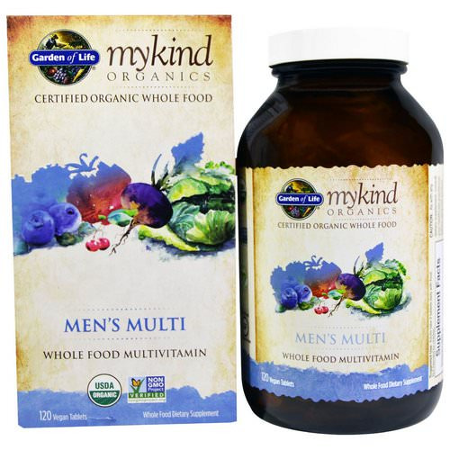 Garden of Life, MyKind Organics, Men's Multi, Whole Food Multivitamin, 120 Vegan Tablets Review