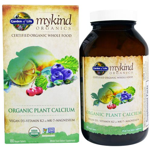 Garden of Life, MyKind Organics, Organic Plant Calcium, 180 Vegan Tablets Review