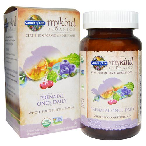 Garden of Life, MyKind Organics, Prenatal Once Daily, 90 Vegan Tablets Review