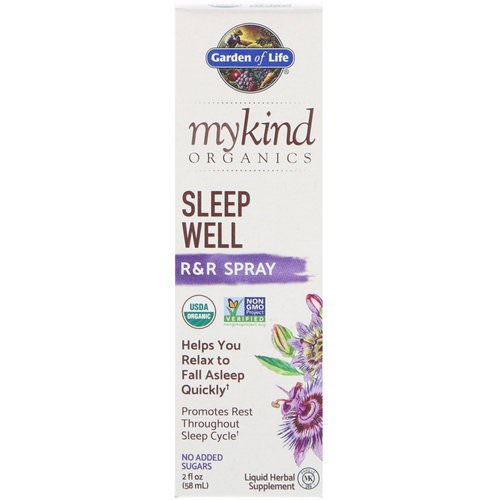 Garden of Life, MyKind Organics, Sleep Well, R&R Spray, 2 fl oz (58 ml) Review