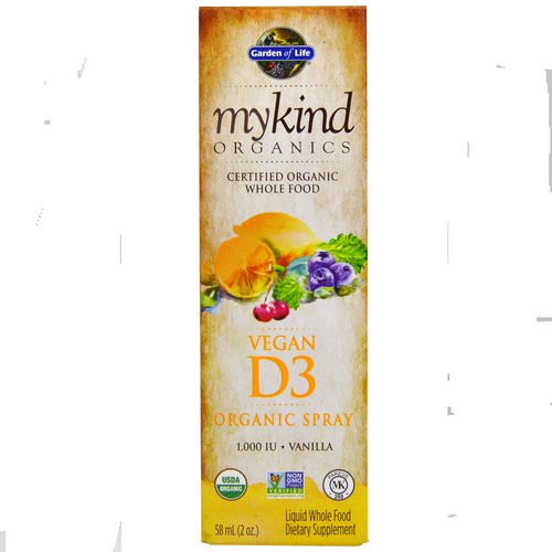 Garden of Life, MyKind Organics, Vegan D3, Vanilla Spray, 1,000 IU, 2 oz (58 ml) Review