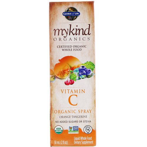 Garden of Life, MyKind Organics, Vitamin C Organic Spray, Orange-Tangerine, 2 fl oz (58 ml) Review