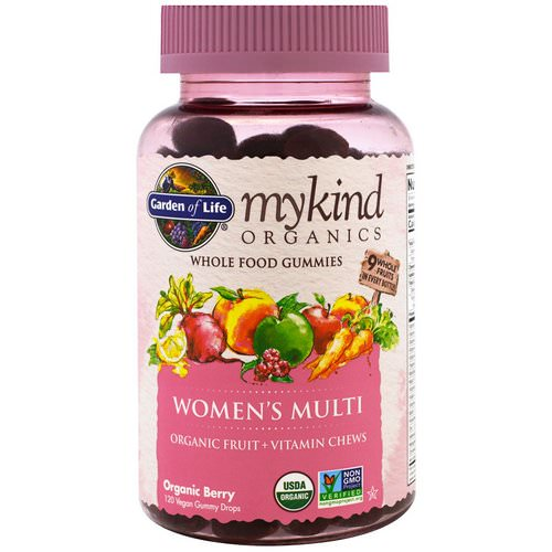 Garden of Life, MyKind Organics, Women's Multi, Organic Berry, 120 Gummy Drops Review