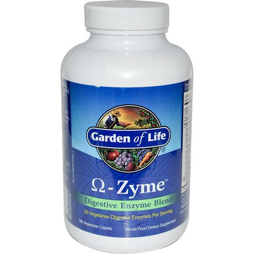 Garden of Life, O-Zyme, Digestive Enzyme Blend, 180 Vegetarian Caplets Review