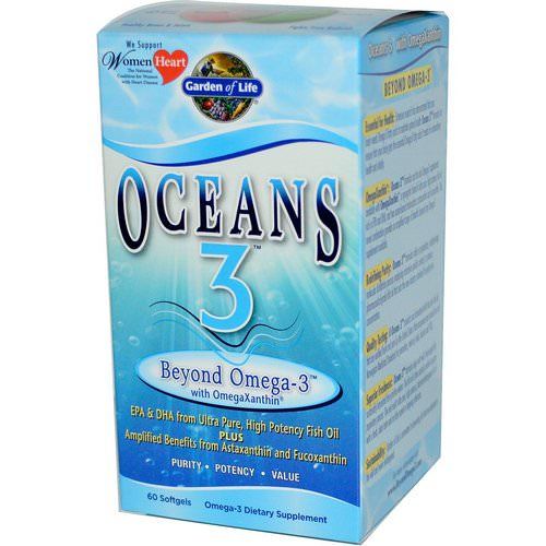 Garden of Life, Oceans 3, Beyond Omega-3 with OmegaXanthin, 60 Softgels Review