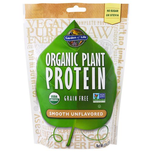 Garden of Life, Organic Plant Protein, Grain Free, Smooth Unflavored, 8.0 oz (226 g) Review