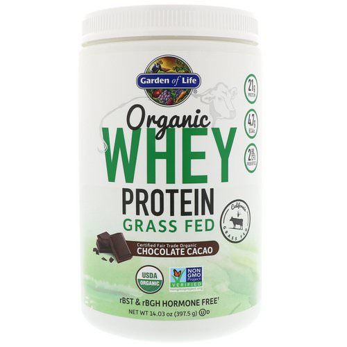 Garden of Life, Organic Whey Protein Grass Fed, Chocolate Cacao, 14.03 oz (397.5 g) Review