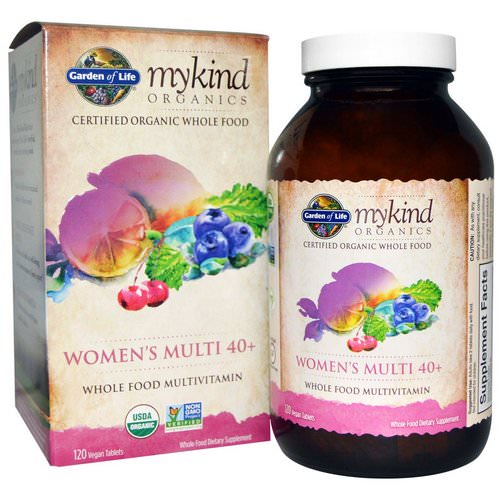 Garden of Life, Organic Women's Multi 40+, Whole Food Multivitamin, 120 Vegan Tablets Review